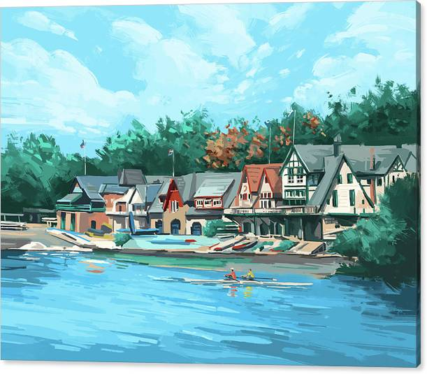 Boathouse Row by Bekim M