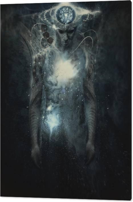 Man With Conceptual Spiritual Body Art Canvas Print Canvas Art By Martin Muir