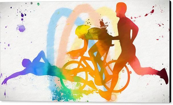 Triathlon Poster by Dan Sproul