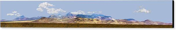 Photography Canvas Print featuring the photograph Peloncillo Mountains Panorama by Sharon Broucek