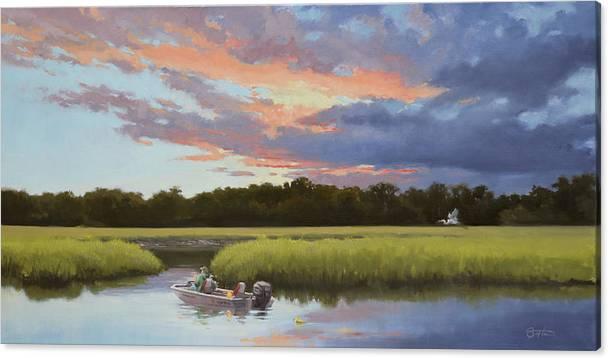 Crabbing on Fishing Creek by Todd Baxter