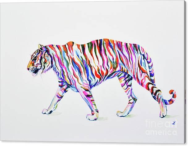 Walking Tiger by Zaira Dzhaubaeva