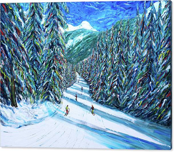 Morzine Ski Print from Portes Du Soleil by Pete Caswell