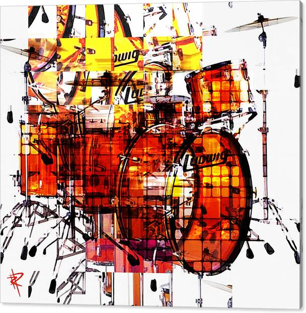 Cubist Drums by Russell Pierce