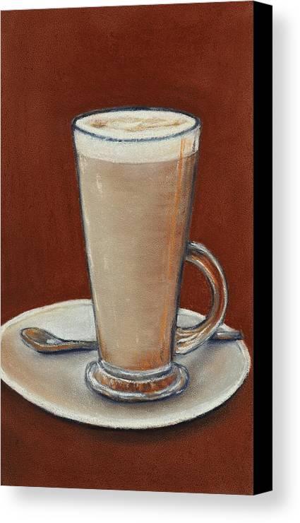 Canvas Print featuring the digital art Cappuccino by Anastasiya Malakhova