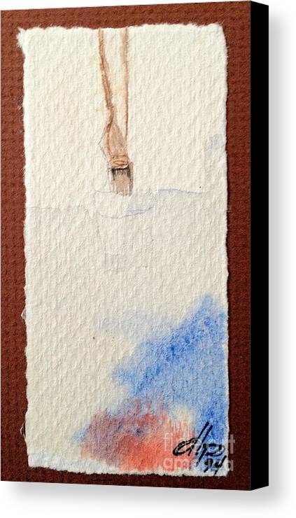 Paintbrush Canvas Print featuring the painting Paintbrush by Diane Phelps