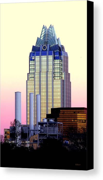 Frost Tower Canvas Print featuring the photograph The Frost Tower by Lisa Spencer