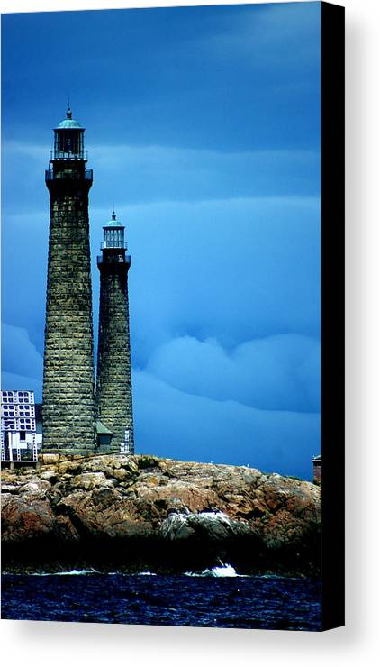 Storm Canvas Print featuring the photograph A Degree Of Separation by Bill Barowy