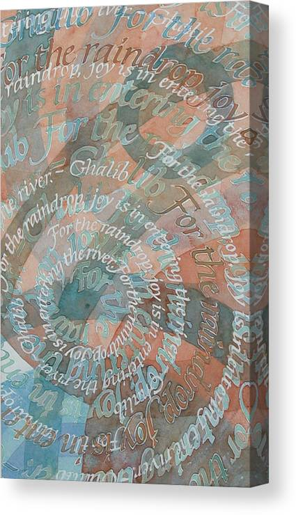 Calligraphy Canvas Print featuring the painting Cycle by Sid Freeman