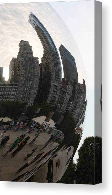 Chicago Canvas Print featuring the photograph Skyline In The Bean by Eric Gordon