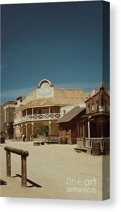 Canvas Print featuring the photograph Old Tucson by Edmund Mazzola