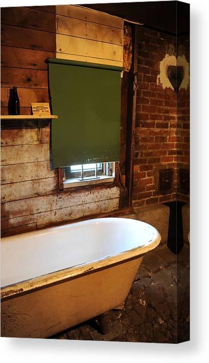 Bath Tub Canvas Print featuring the photograph West End Basement Brewing by Jason Evans