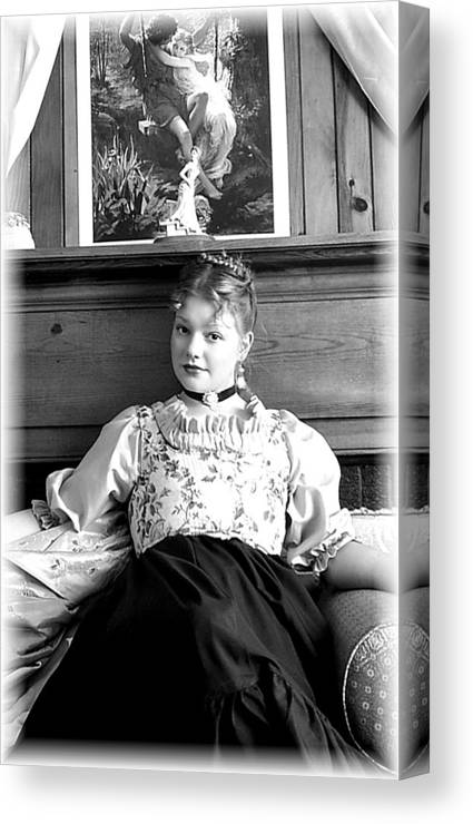 Portrait Canvas Print featuring the photograph Contemplation by Scarlett Royal