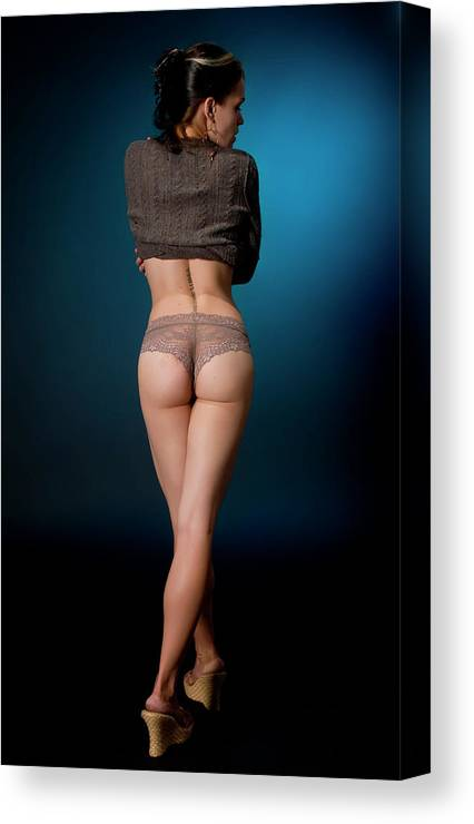 Female Canvas Print featuring the photograph Follow Me... by Ken Norcross