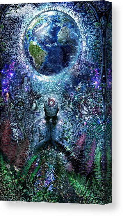 Cameron Gray Canvas Print featuring the digital art Gratitude For The Earth And Sky by Cameron Gray