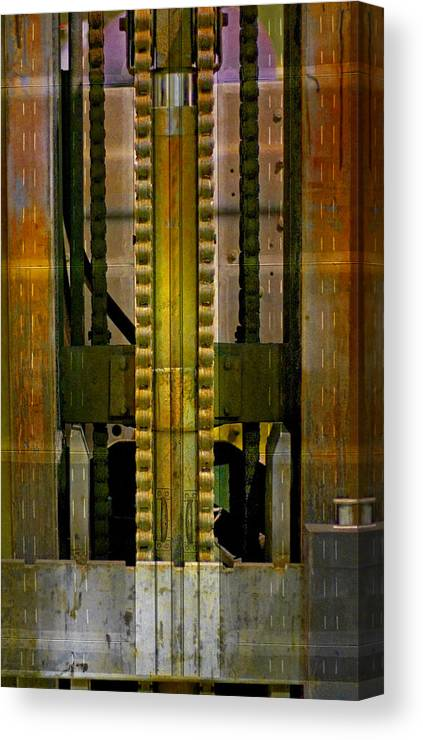 Texture Canvas Print featuring the photograph Machina by Skip Hunt