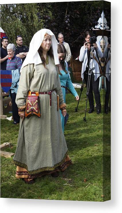Re Enactment Society Canvas Print featuring the photograph Medieval Maiden by Peter Jenkins