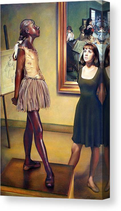 Edgar Degas Canvas Print featuring the pastel Visit To The Museum by Patrick Anthony Pierson