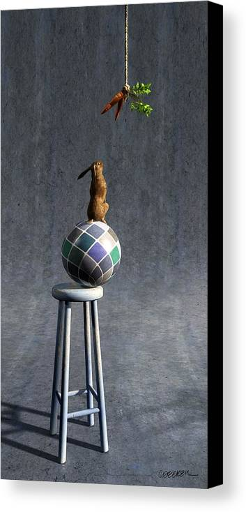 Rabbit Canvas Print featuring the digital art Equilibrium II by Cynthia Decker