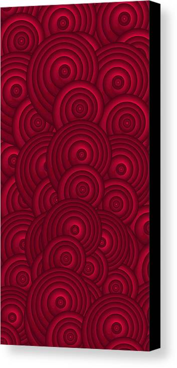 Red Swirls Canvas Print featuring the painting Red Swirls by Frank Tschakert