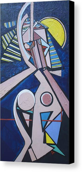 Acrylic Canvas Print featuring the painting Repray by Valerie Wolf