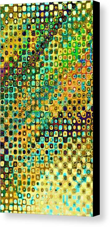 Abstract Canvas Print featuring the digital art Spex Future Abstract Art by Mary Clanahan