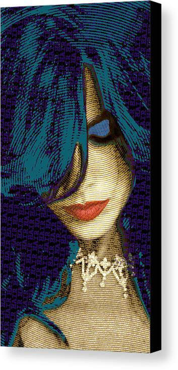 Woman Canvas Print featuring the painting Vain 2 by Tony Rubino