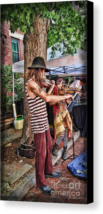University Circle Canvas Print featuring the photograph Faire Performers by Joan Minchak
