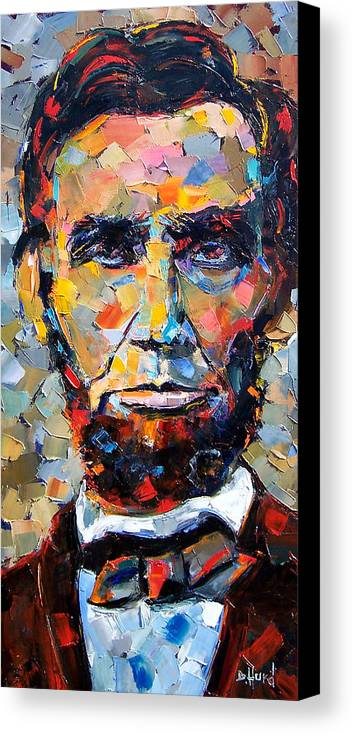 President Canvas Print featuring the painting Abraham Lincoln Portrait by Debra Hurd