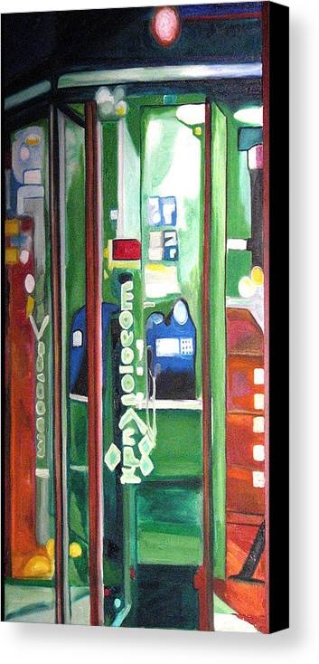 Abstract Canvas Print featuring the painting Calling Dam by Patricia Arroyo