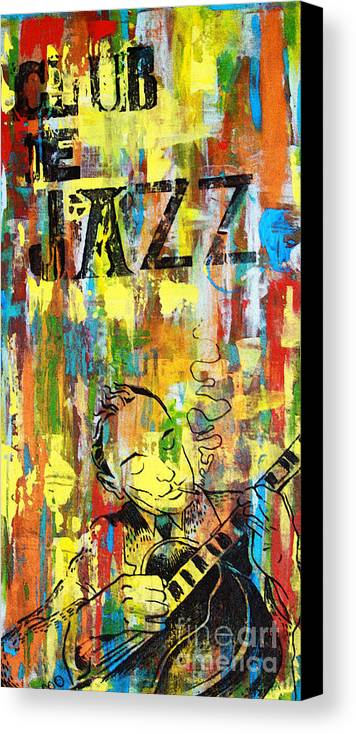 Club Canvas Print featuring the mixed media Club De Jazz by Sean Hagan