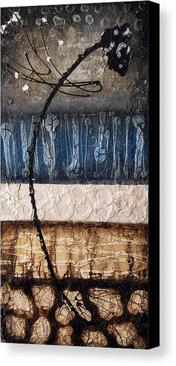 Abstract Canvas Print featuring the painting Dragonfly 2 by Jill English