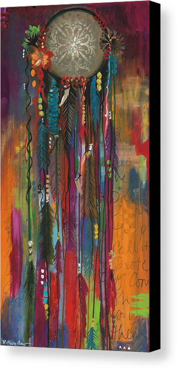 Dreamcatcher canvas print canvas art by allison crow for Dream catcher spray painting