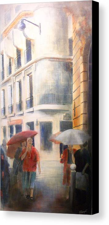 Drizzle Canvas Print featuring the painting Drizzle by Victoria Heryet