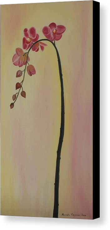 Marinella Owens Canvas Print featuring the painting Orchide In Pink by Marinella Owens