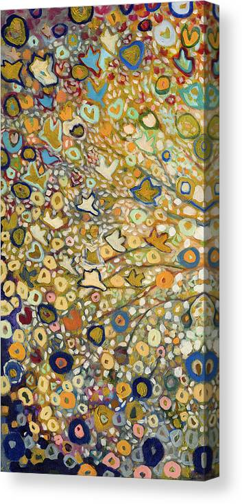 Tree Canvas Print featuring the painting From Out Of The Rubble Part A by Jennifer Lommers