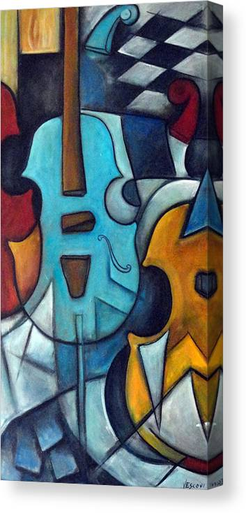 Music Canvas Print featuring the painting La Musique 2 by Valerie Vescovi