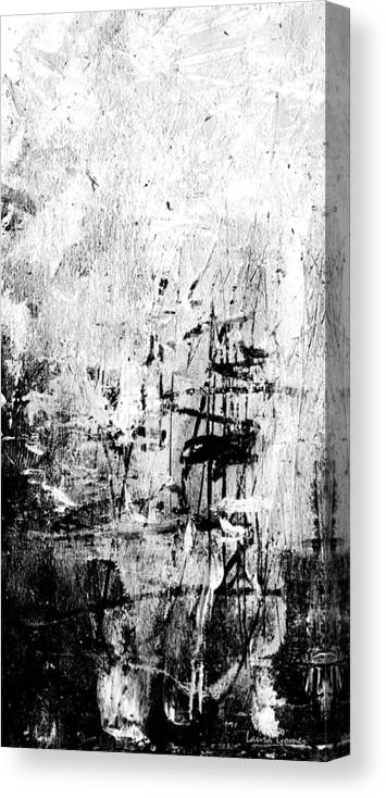 Old Memories Black And White Abstract Art By Laura Gomez Vertical Size Canvas Print
