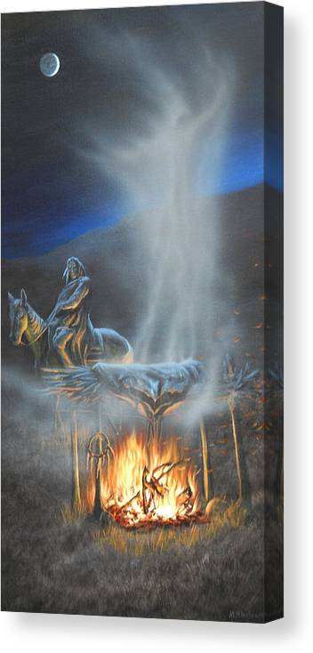 Horse Canvas Print featuring the painting Passing Spirit by Mark Mittlesteadt