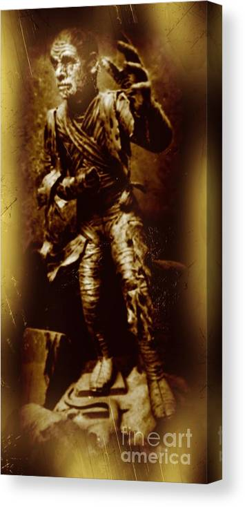 Nightmares Canvas Print featuring the photograph The Mummy Document by John Malone