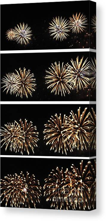 Opsail Canvas Print featuring the photograph Firework Lifecycle 1 by Meandering Photography
