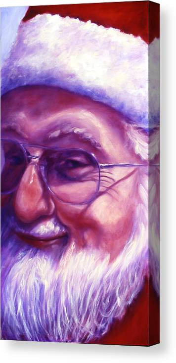 Portrait Canvas Print featuring the painting Are You Sure You Have Been Nice by Shannon Grissom
