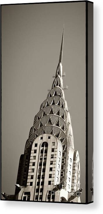 Chrysler Buidling Canvas Print featuring the photograph Chrysler Building New York City by Juergen Held