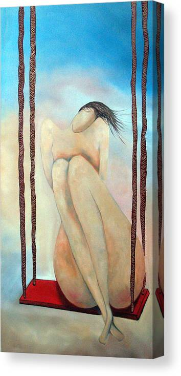 Lady Canvas Print featuring the painting Lady Marmalade by Niki Sands