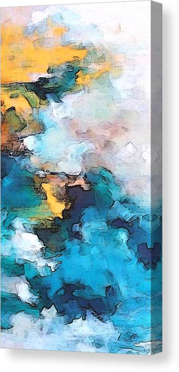 Abstract Canvas Print featuring the digital art Sweet Memory Shades by Linda Mears