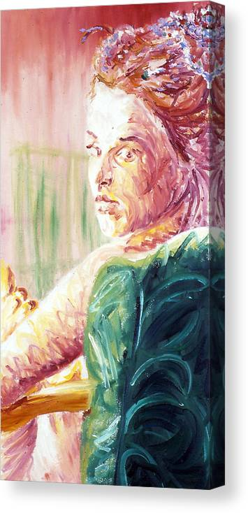 Portrait Canvas Print featuring the painting Whos That Girl by LB Zaftig