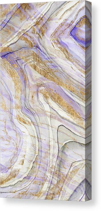 Abstract Canvas Print featuring the painting Amethyst & Gold I by Studio W