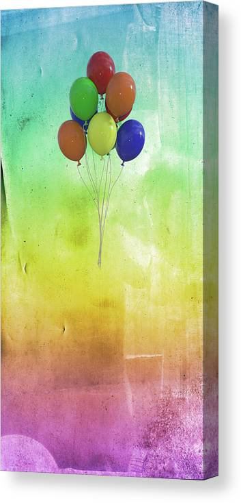 Balloon Canvas Print featuring the digital art Balloons by Betsy Knapp