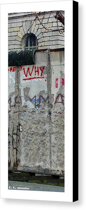 Berlin Canvas Print featuring the photograph Citymarks Berlin by Roberto Alamino