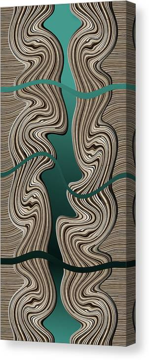 Abstract Canvas Print featuring the digital art Creation by Efrat Fass